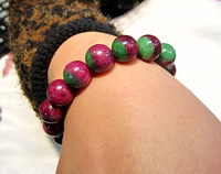 Small natural red and green treasure bracelet 12mm 56.2