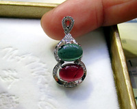 Natural tourmaline pendant k platinum inlaying exquisite aqua noble