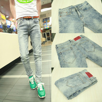 Spring male jeans street trend of the ultra slim elastic skinny pants male