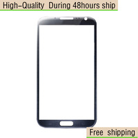 NEW Gray Replacement LCD Front Screen Glass Lens For Samsung Galaxy Note 2 II N7100 Free Shipping UPS DHL EMS HKPAM CPAM