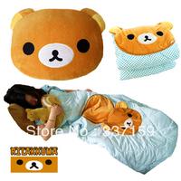 Free shipping large size new San-x Rilakkuma Cute Air Condition Blanket 2 in 1 Back Pillow Plush, stuffed sofa cushion for girls