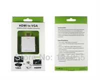Top New HDMI to VGA 1080p converter adapter with audio Digital set-top box PC computer laptop Xbox 360 PS3 to TV monitor Cable