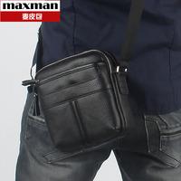 Genuine leather man bag messenger bag small bag business casual brief 2013 male cowhide shoulder bag