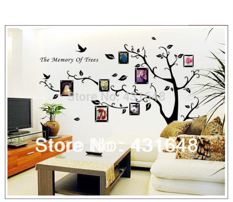Nouveau 2015 Giant Tree Stickers Muraux Xxl Photo Arbre Mur 320 220 Cm Et Noir Blanc Arbre