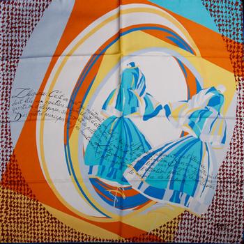 Ba twill satin silk large business gift facecloth roll-up slanting hem silk stripe scarf silk scarf