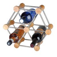 many kinds of shape diy wine rack combination solid wood stainless steel wine bottle holder
