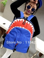 2013 new designed women and men shark backpack shoulder bag high quality free shipping