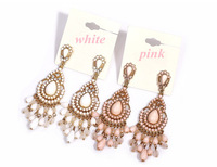 Minimum Order $20 (mixed order)  fashion accessories female luxury full beads drop tassel earrings