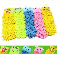 Free Shipping 10pcs/lot Microfiber Cartoon Hanging Towel Cute Animal Cleaning Towels For Kitchen Bathroom Office Car Wash A0204