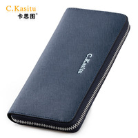 Fashion cowhide zipper wallet lovers design clutch long design clutch bag white