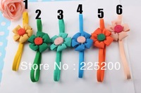 Free shipping Girl Flower Headbands Kids Hair Ornament Lovely Chiffon Flower Headwrap Baby Hair Accessories Christmas Gift 36pcs