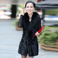 2013 mink fur coat fight mink genuine leather sheepskin fur fox fur vest genuine leather female clothing