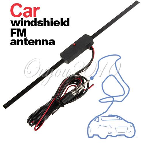 Auto Car Windshield Electronic Mount Self Adhesive Base TV FM Radio Antenna New Free Shipping Wholesale(China (Mainland))