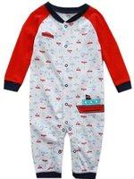 wholesale 100% cotton baby boy romper cute boat, long sleeve Baby bodysuit, Baby jumpsuit A6024