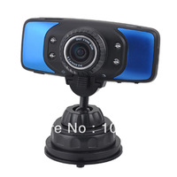 "Free Shipping 2.7"" TFT LCD 178 Wide Angle Lens 1080P HD Car DVR with HDMI, TF, 4-IR LED, GPS, G-Sensor, Blue"