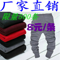 Child legging pants male child wool children's clothing knitted pants autumn and winter baby wool pants female child warm pants