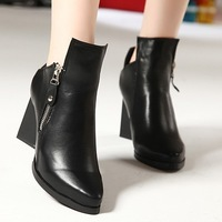 size 35-39 Hot 2013 new fashion low heel women's motorcycle ankle boots for women, winter shoes and women motorcycle boots B