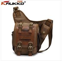 KAUKKO brand retro vintage canvas bag men messenger bag man cross body bags KKK003