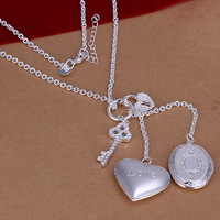New Arrival ! Wholesale 925 Silver Necklace, 925 Silver Fashion Jewelry Double Frame Chain Necklace CN007