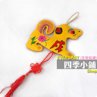 Four seasons shop hangings silk embroidered embroidery chinese knot tassel fortune dog hangings