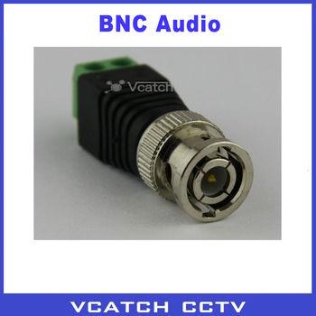 Vcatch BNC Video Balun Connector Mini Coax CAT5 To Camera CCTV BNC UTP Video Balun Connector Adapter for CCTV System