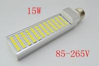 12W 5050 LED Light 60 LED PL Corn Bulb for home Lamp G24 E27  1100LM Cool |Warm White 85V-265V High Power Free Shipping 1pcs