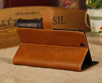 Luxury Retro Flip Wallet Card Holder Magnetic Thin Stand Genuine Leather Cases Cover For Sony Xperia Z Ultra XL39H Pouch Handbag