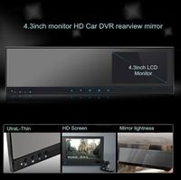 HD Car DVR Camera recorder with G-sensor + AV-in Design +4.3inch monitor