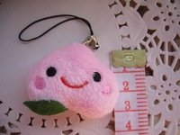 Freeshipping Plush toy dolls doll cloth doll fake vegetables fruit peach mobile phone small pendant prize T