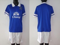 2013 -2014  Everton home Soccer Jersey shorts soccer  sets uniform  Thailand Football Shirt Customized