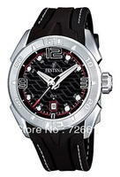 FESTINA F16505/3 Herren Uhr Silikon Schwarz Herrenuhr Black Rubber Men Watch