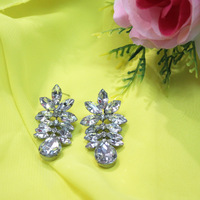 Free Shipping 24prs/lot Cheap Sale Fashion Leaf Stud Earrings Girls Party Dress Jewelry Women Costume Earring Bridal Accessories