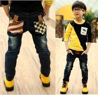 Free Jeans 2013 new  autumn-summer boy's jeans soft jeans for kids children good quality boy's trousers pants Dorp shipping B008
