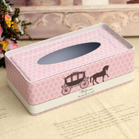 Royal coach iron sheet box tissue pumping box table napkin paper box fashion towel sets vehienlar bumpered box