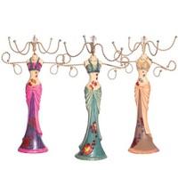 Colored drawing princess formal dress earring holder model rack jewelry holder accessories rack display rack