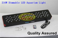 2013 Auto Sunrise Sunset New Dimmable 216W Led Aquarium Light For 90cm-120cm Aqua Coral Reef Fish Tank--Remote Control