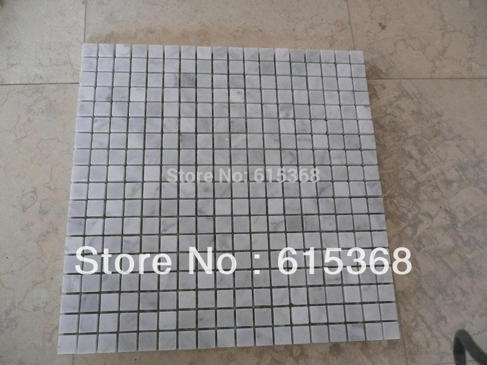 product 15*15 mm Polished bianco carrara mosaic