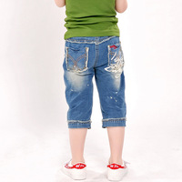 free shipping new arrival 2013 children's clothing child casual pants male child fashion denim pants capris