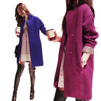 2 Color winter coat women casacos femininos outwear coat  trench coat for women Long Jacket Loose high quality Woolen Wool coats