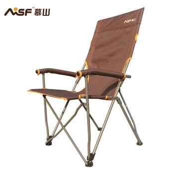 Outdoor folding chair portable fishing chair beach chair Large armrest folding chair