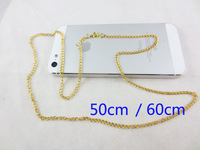 Global Free Shipping Hot Fashion Women 0.7mm 18 K Gold Twist Chain 19.6 in. (50cm)  23.6 in.(60cm) Dog Tag Keychain