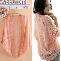 2014 spring and autumn cardigan chiffon lace crochet cardigan loose wrap female thin cardigan for women