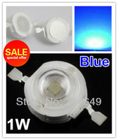 50pcs/lot, 1W Blue led beads, high power led light source, blue Ledsfor lamp DIY, (No: GH-1W-B ) freeshipping