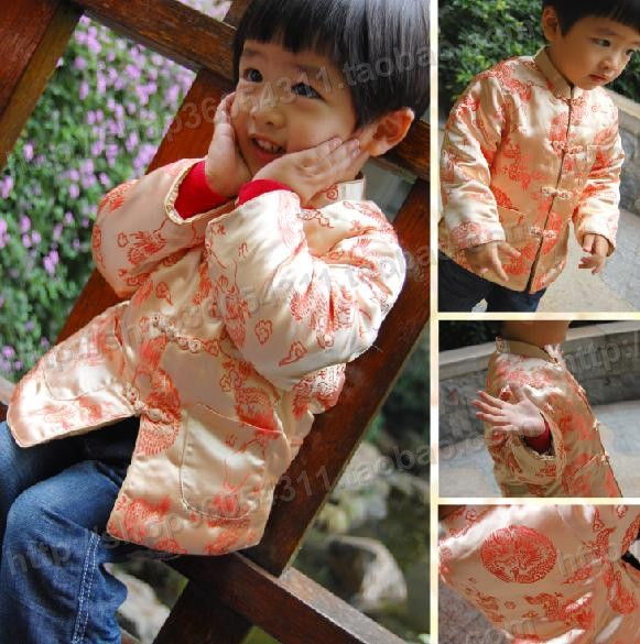 Children's clothing baby chinese style formal dress 2013 autumn and winter child tang suit male child dragon(China (Mainland))