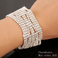 NCB010 New Arrival Platinum Gold Plated Imitation Diamond Bracelet & Bangle For Women 2013 Free Shipping Hot Sale