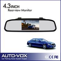 Free shipping Best Car Color TFT LCD Car Backup Mirror Monitor 4.3'' Car Monitor 16:9 screen wholesale