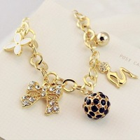 Fashion 40304 ! opshacom ball sparkling fashion multi-element bow bracelet ball bracelet