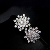 10309 stud earring ol fashion all-match gentlewomen full rhinestone fashion stud earring earrings earring