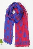 2013 autumn winter scar fashion women's  Skull Silk scarf  size 175*70cm