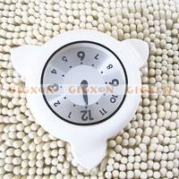 SILVER Bathroom Shower Kitchen Clock water resistant